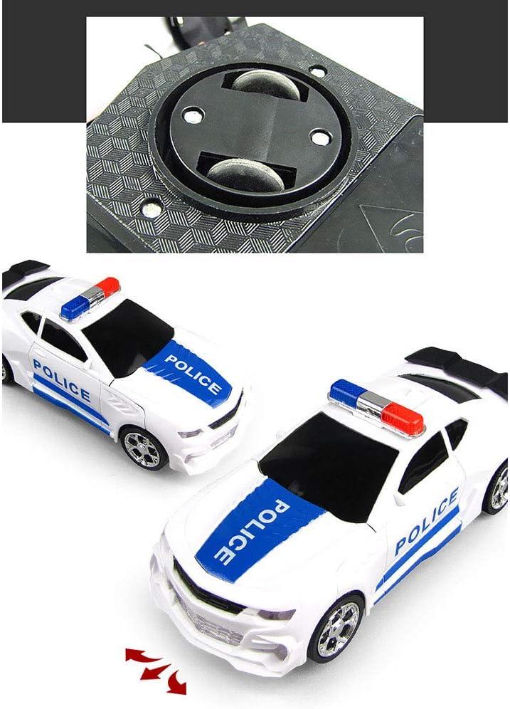Trasformatore per Bambini Robot elettrici deformazione auto della polizia con Sound /& Light Toy