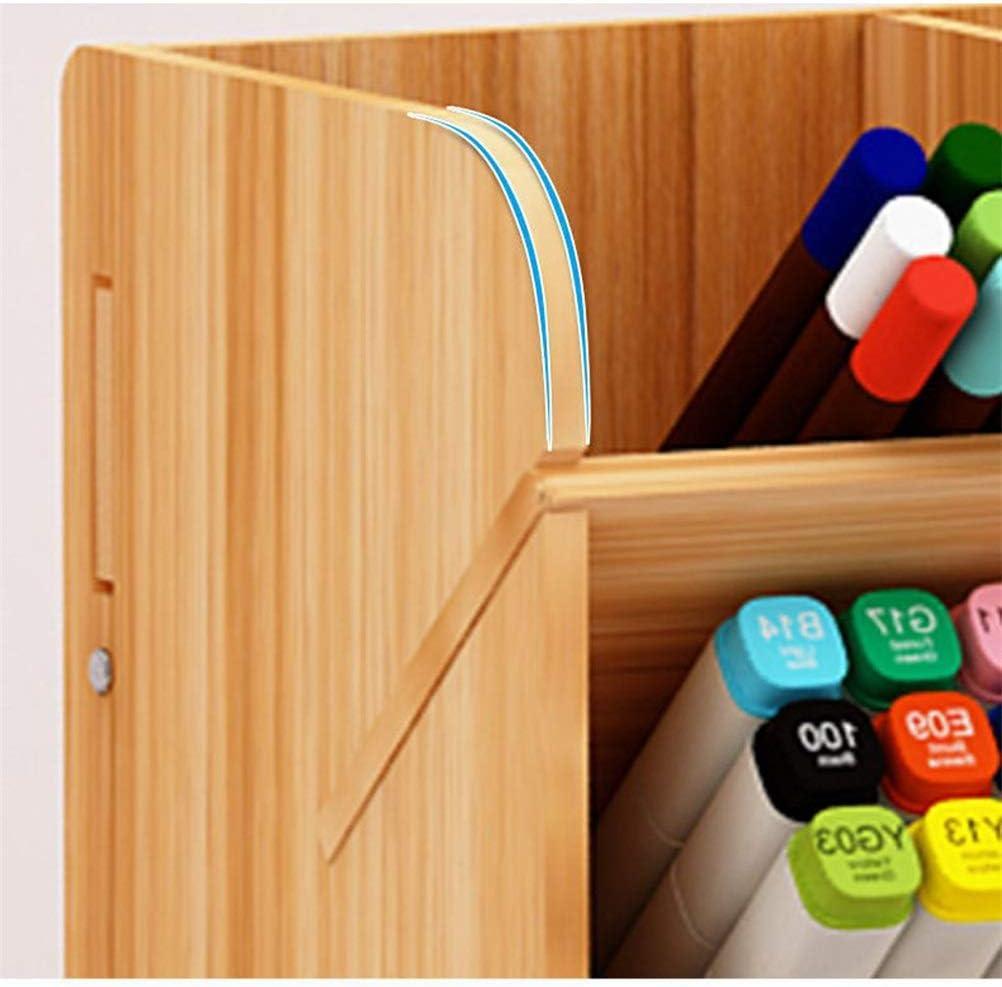 21x15x25,5 cm basku Schreibtisch-Organizer aus Holz Multifunktionale Schreibwaren-Aufbewahrungsbox mit SchubladeOffice Desk Organizer Ordentliche Bleistiftstifte Schreibtischzubeh/ör
