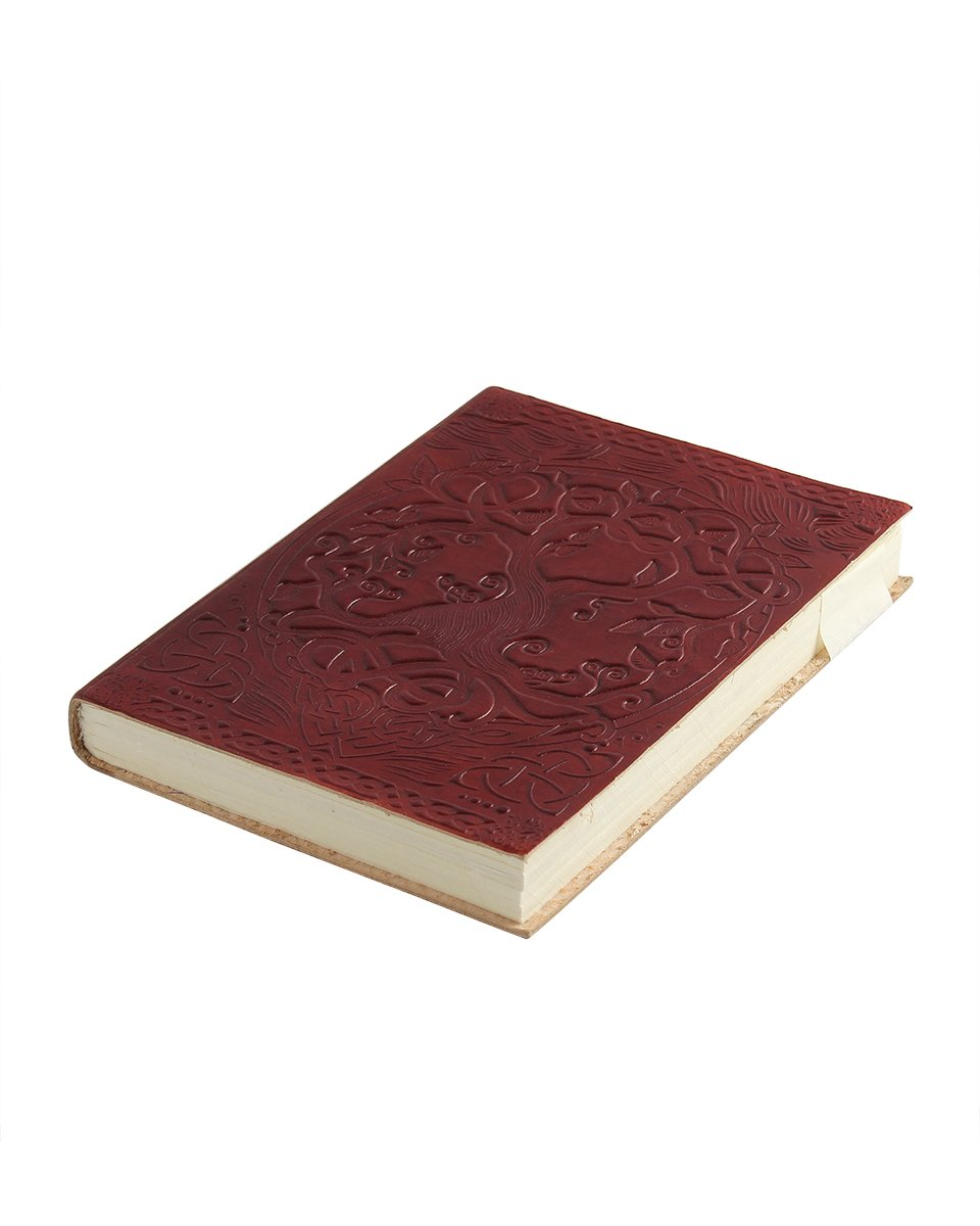 Store Indya Handmade Genuine Leather Journal Eco-Friendly Unlined Pages Compact Travel Diary Writing Journal for Men & Women (Tree of Joy Collection) storeindya