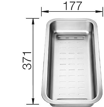 blanco 226 189 resteschale siebschale edelstahl zubehör spüle ... - Spülbecken Küche Edelstahl