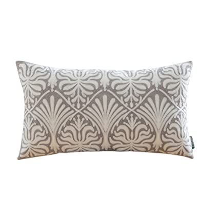 Amazon HWY 40 Cotton Embroidered Decorative Rectangle Throw Delectable Grey Decorative Bed Pillows