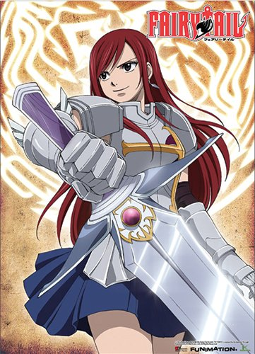 Great Eastern Entertainment Fairy Tail Erza with a Sword Wall Scroll, 33 by - Poster Wall Cloth Hunter Scroll