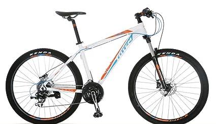 46aa6705adb Amazon.com : ToTeM Aluminum Frame mountain bike 24 speed (white, 17 ...