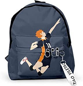 Xiao Maomi Haikyuu Backpack Karasuno Anime Backpack Schoolbag Bookbag Laptop Bags for Kids School Backpack (15.711.44.7 in, Z-6)
