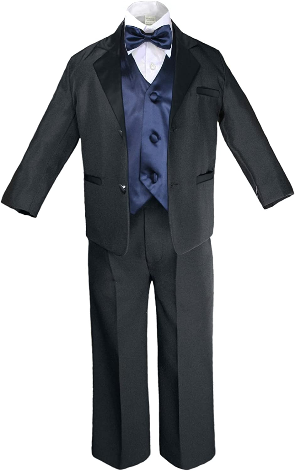 Baby Toddler Boys Green Teal Turquoise Wedding Formal Vest Set Tuxedo Suits S-20