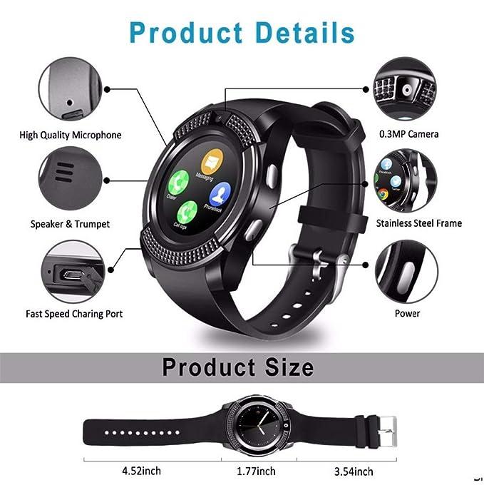 CITW Reloj con Pantalla Táctil Smartwatch Bluetooth Smart ...