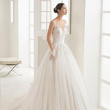 AN Trailing princesa fantasía perspectiva de encaje vestido de novia vestido largo novia vestido de novia