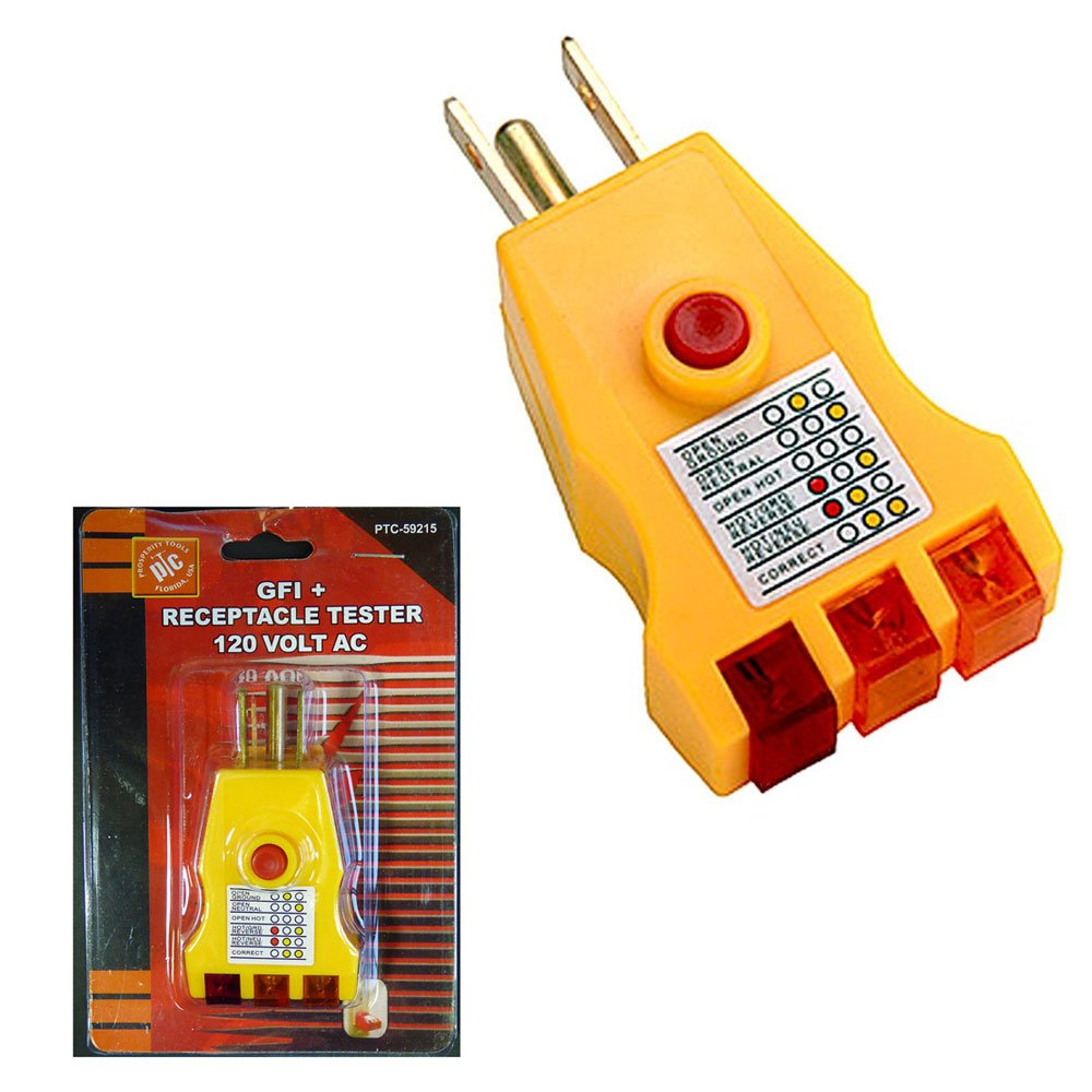 Electrical Receptacle Tester Ac Outlet Plug 3 Prong Gnd Circuit Wall Wiring Testers