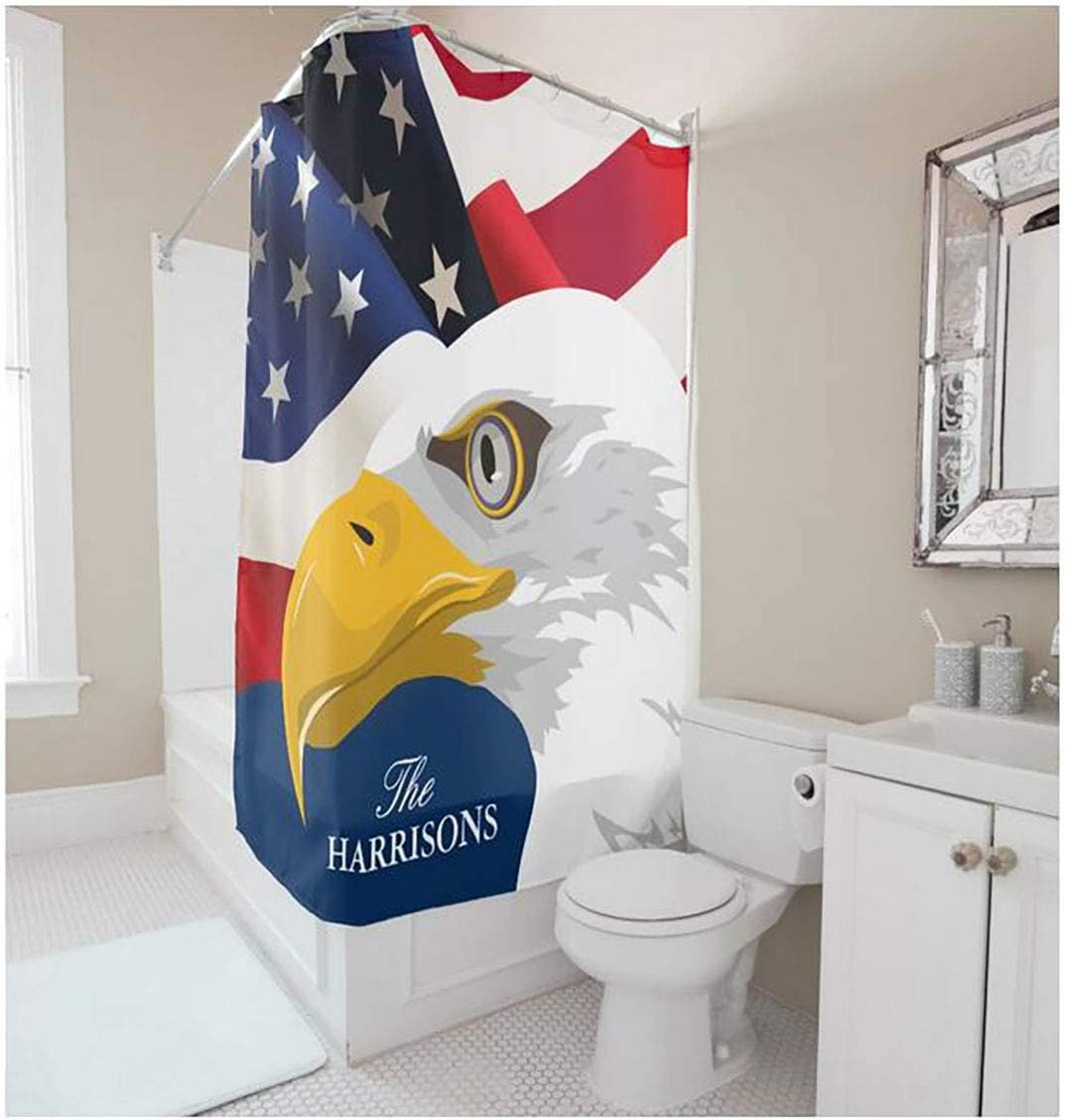 Hillhead Cortina de Ducha, Estampado de águila de poliéster, baño Impermeable, Cortina de Moho, mampara Sanitaria (Size : 165 * 180): Amazon.es: Hogar