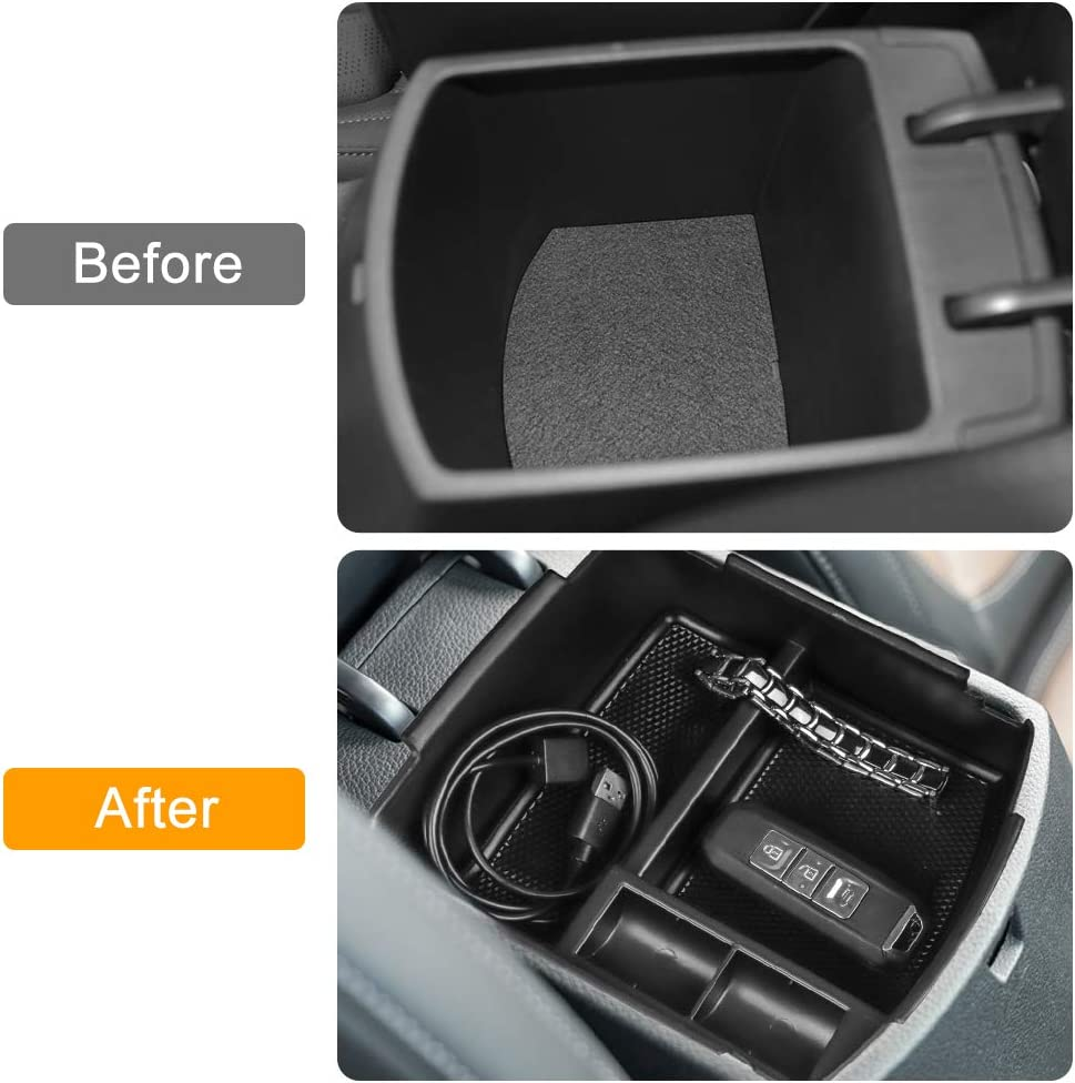 Salusy Center Console Organizer Tray Compatible for Kia Seltos 2020 2021 Armrest Secondary Storage Box Insert