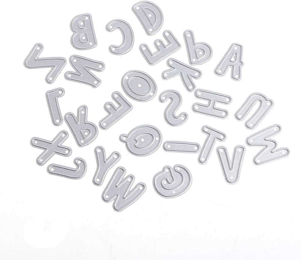 LIYUDL Alphabet Letter A-Z Metal Cutting Dies Stencils Scrapbooking Embossing Album Paper Card Craft DIY Gift
