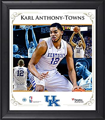 "Karl Anthony-Towns Kentucky Wildcats Framed 15"" x 17"" Core Composite - Fanatics Authentic Certified - College Player Plaques and Collages"