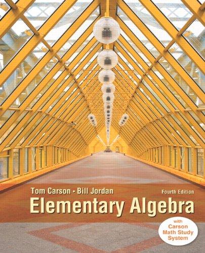 Elementary Algebra, Plus NEW MyLab Math with Pearson eText -- Access Card Package (4th Edition) (Carson Developmental Al