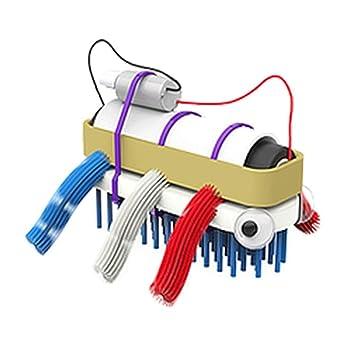 bristlebot Kit - Mi primer robot I Mini Robot a Incluso construir Do It Yourself Cepillo Robot con motor de vibración robótica de montar para niños: ...