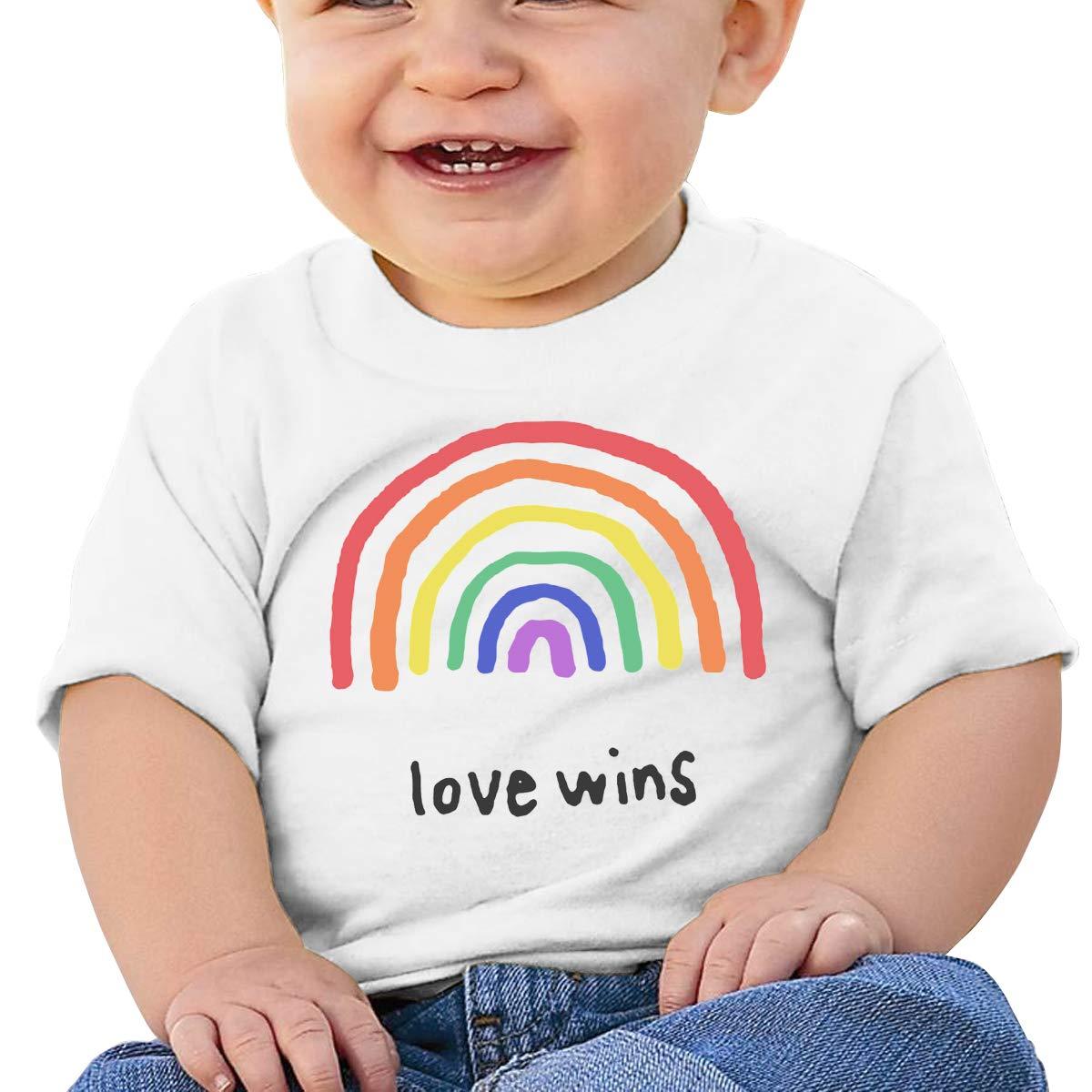 AiguanLGBTQA Pride Love Wins Toddler//Infant Short Sleeve Cotton T Shirts White 46