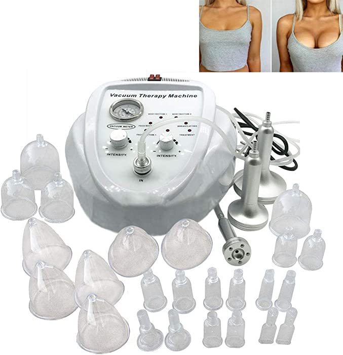 XXGJK Vacuum Treatment Machine for Slimming Lymphatic Drainage, Breast Chest Massager Enlargement Enhancement & Butt Lifting