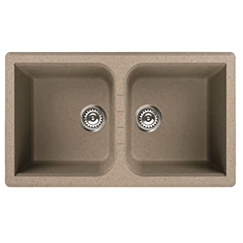 ELLECI LAVELLO AVENA 2 VASCHE AVENA 86X50 INCASSO CUCINA: Amazon.it ...