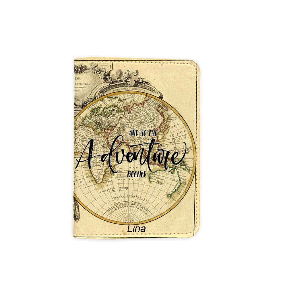 Adventure Begins Name Customized Cute Leather Passport Holder - Passport Covers - Passport Wallet_SUPERTRAMPshop