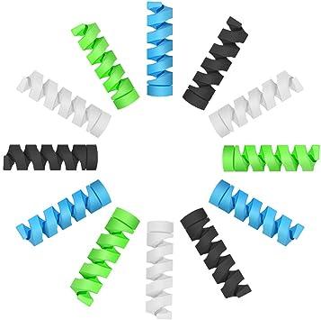 12 Pièces Chargeur de Câble de Type C, Silicone Souple Micro