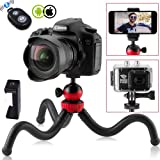 Techlife Flexible Gorillapod Tripod with 360° Rotating Ball Head Tripod for All DSLR Cameras(Max Load 1.5 kgs) & Mobile Phones + Free Universal Mobile Holder & Shutter Remote