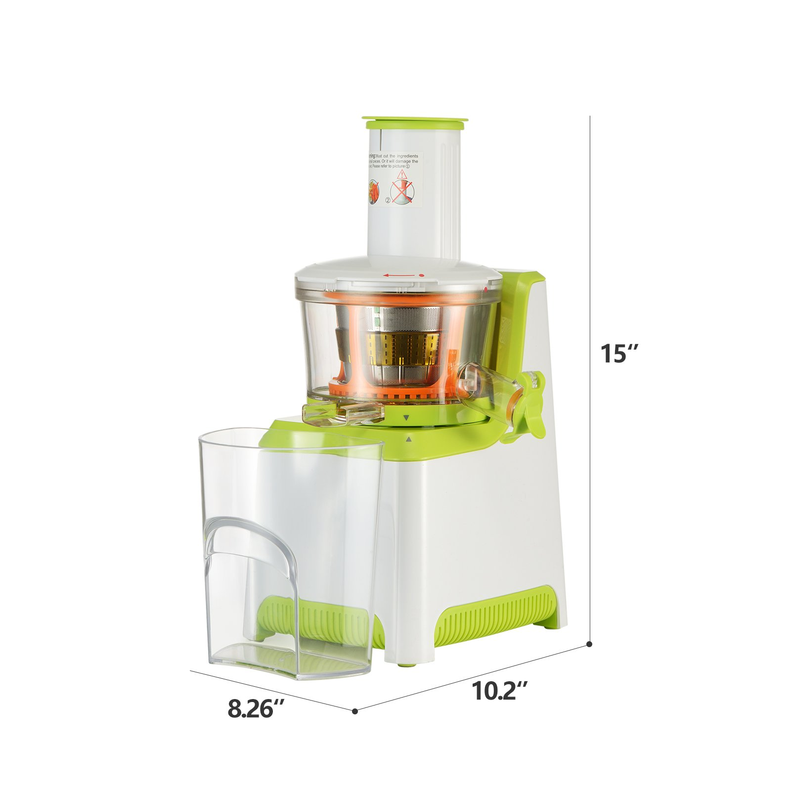 KUPPET Juicer, Slow Masticating Juicer, Higher Juicer Yield, Cold Press Juicer Machine with Quiet Motor & Reverse Function, High Nutrient Fruit & Vegetable Juice, Easy to Clean (Green&White) by KUPPET (Image #6)