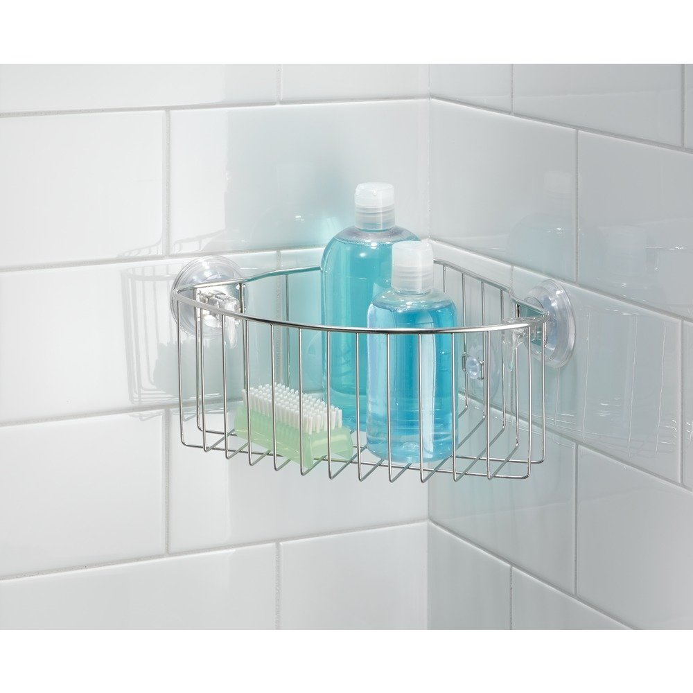 Amazon.com: InterDesign Reo Power Lock Suction Bathroom Shower ...