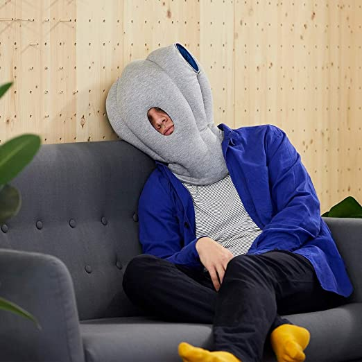 OSTRICH PILLOW Original Travel Pillow for Airplane Flying