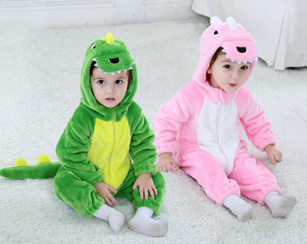 Tonwhar Toddler Infant Tiger Dinosaur Animal Fancy Dress Costume (100(Height:31''-35''/Ages 18-24 Months), Green) by Tonwhar (Image #6)