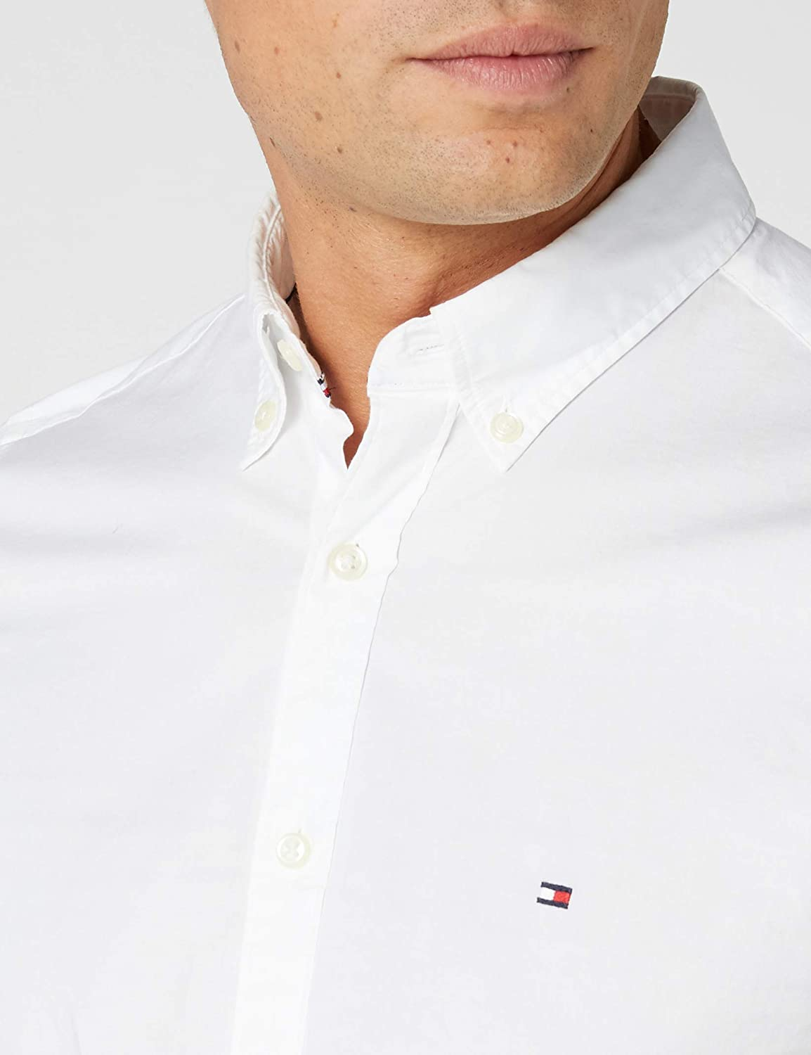 Tommy Hilfiger 867894704403 Chemise business Col classique Homme Manches longues Taille normale
