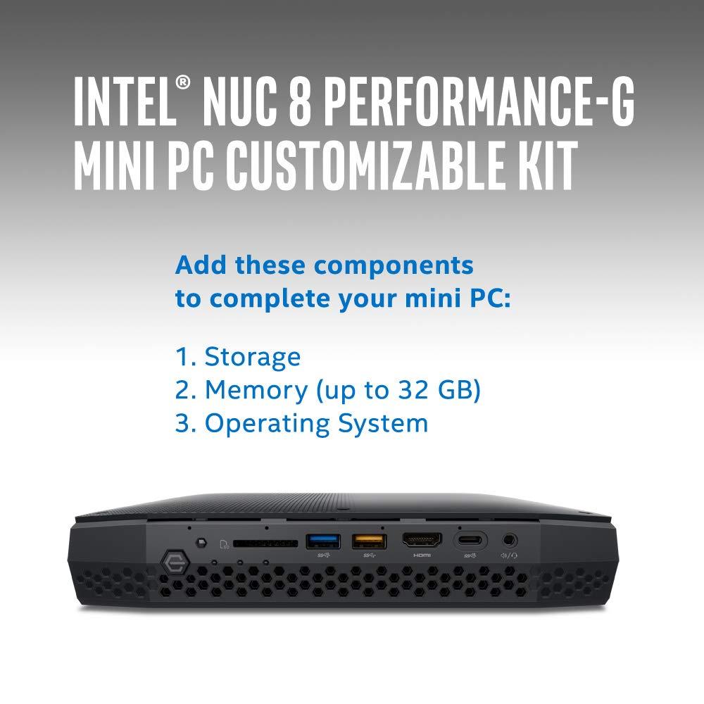 Intel NUC Kit- NUC8i7HNK - Core i7-8705G Processor with