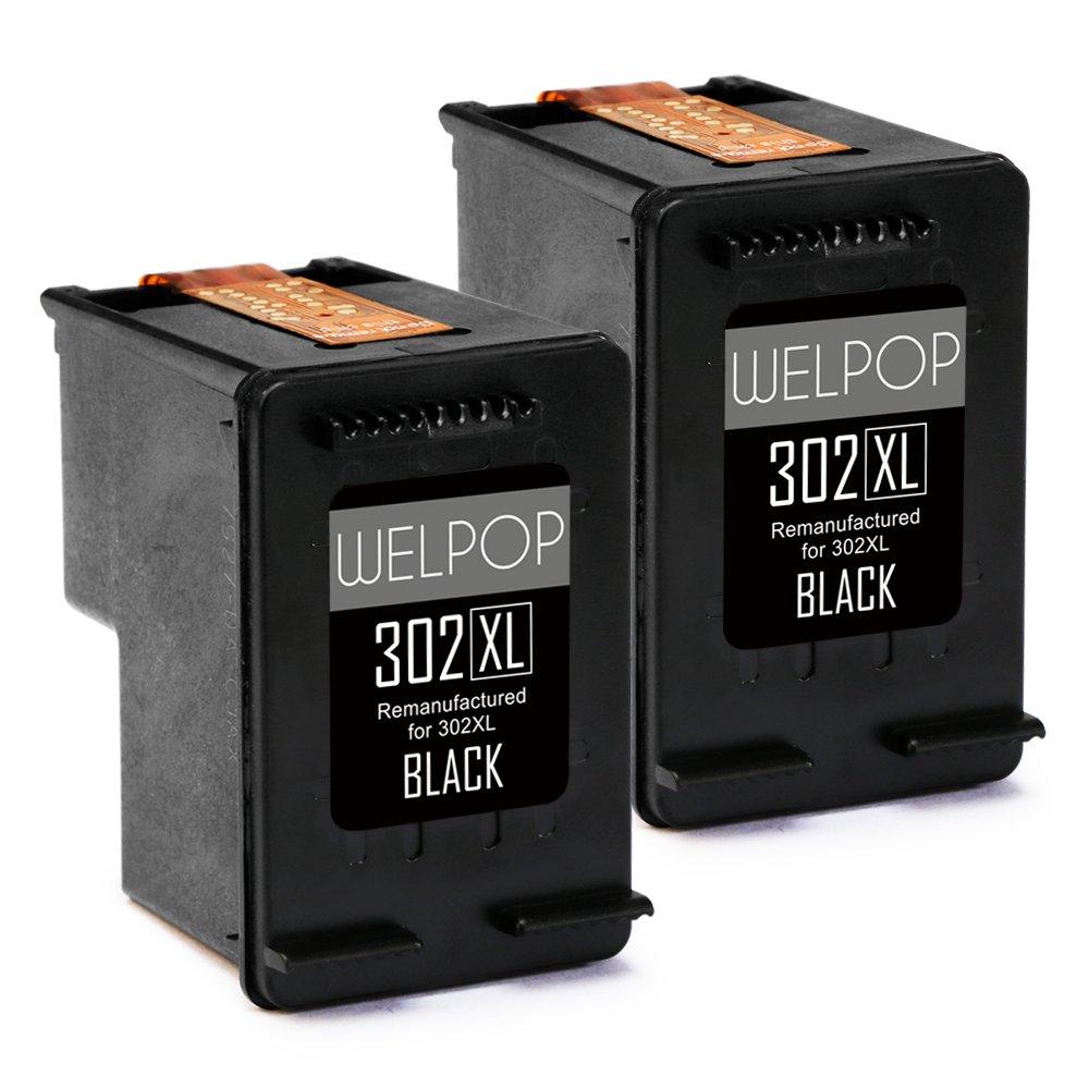 WELPOP 2 Negro Remanufacturados 302XL tinta, Alta Capacidad Reemplazo para HP 302XL cartuchos de tinta, Compatible para HP DeskJet 1110 2130 3630, HP ...