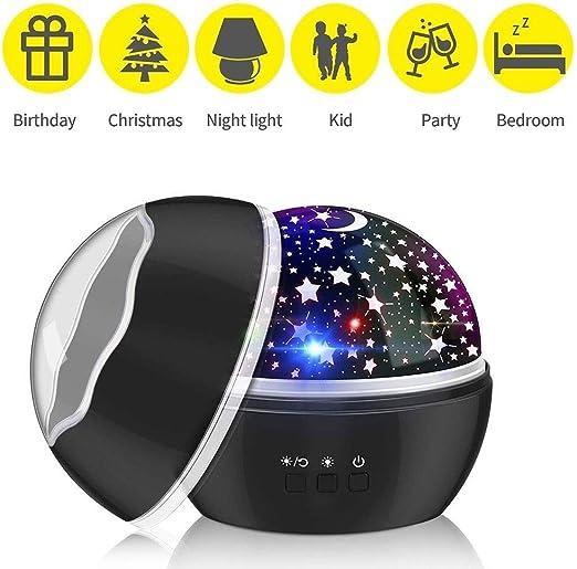 Proyector LED de luz Nocturna Cielo Estrellado Estrella Luna ...
