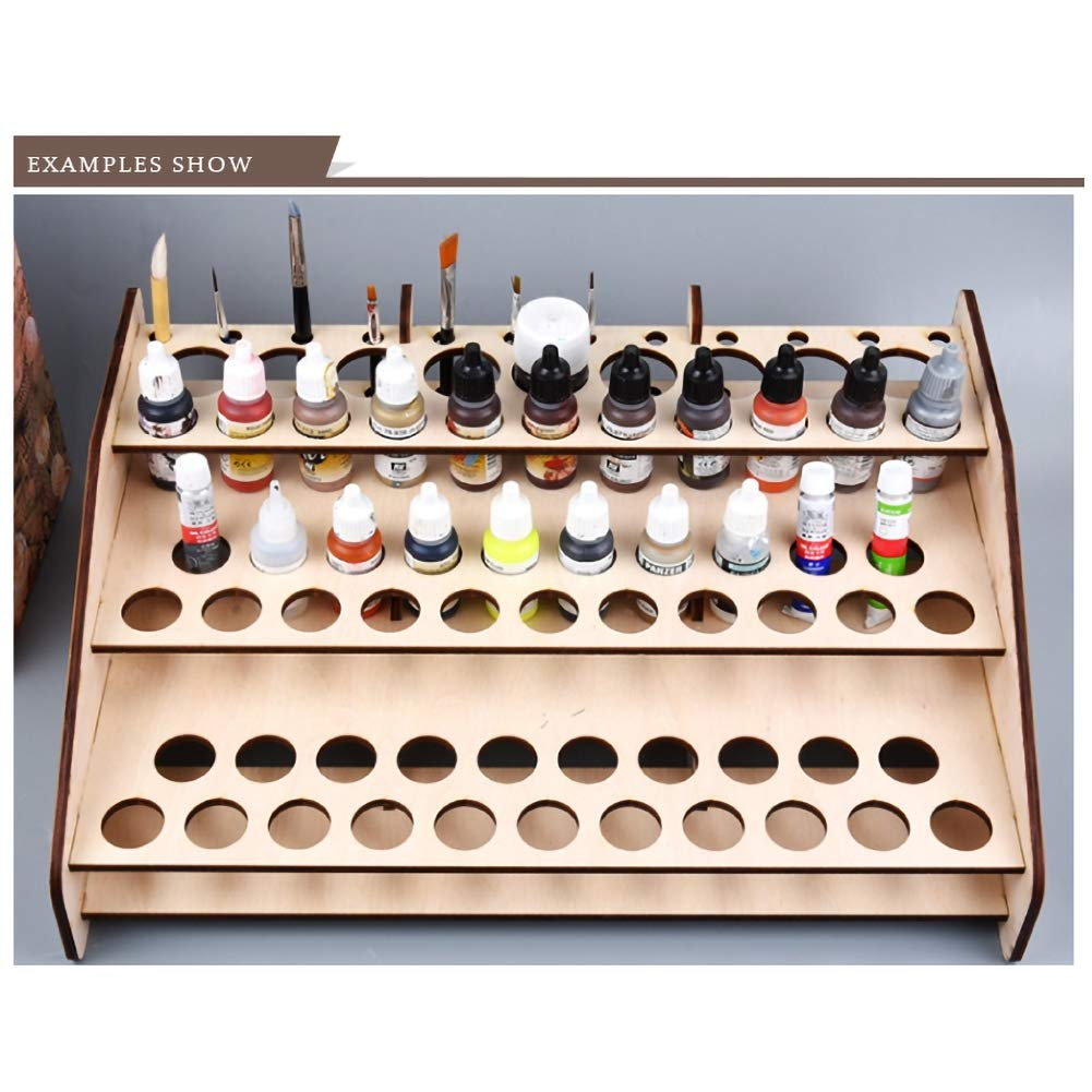 Sunshay Pigment Bottle Storage Organizer,Front Module Table Top Paint Holder Stand Pigment Ink Bottle Paints Tool Storage with Cabinet Holder Organizer