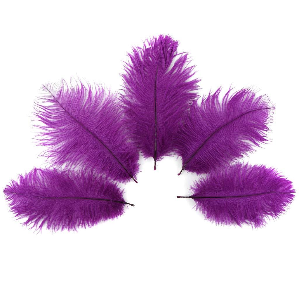 Amethyst Ostrich Feather Supplies 12pc 4-8inch DIY Wedding Home Party Decor