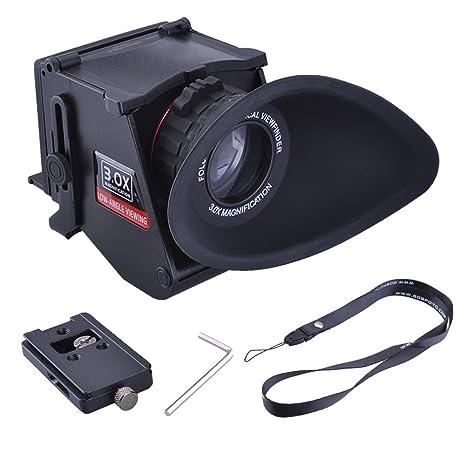Neewer - S5 Plegable LCD Visor con Zoom óptico de 3 aumentos y ...