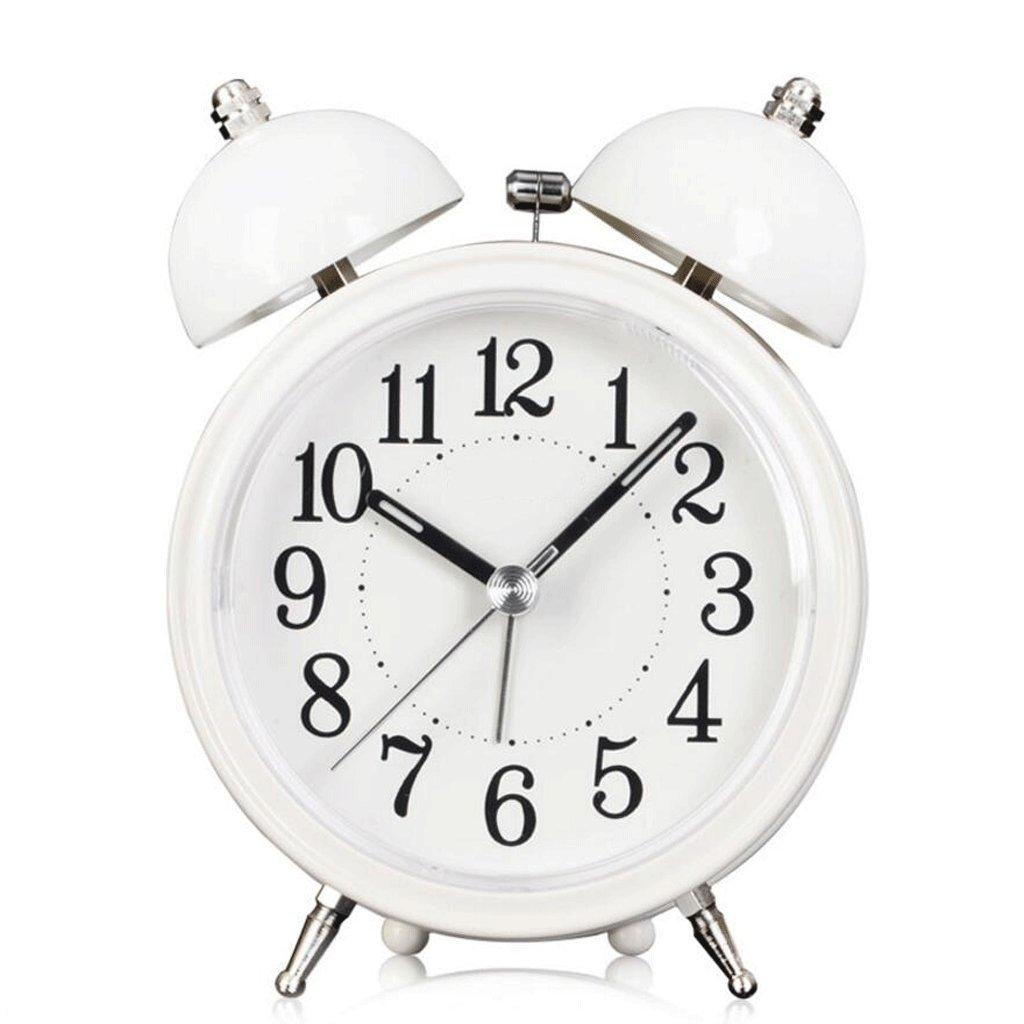 ZLR クリエイティブナイトライト目覚まし時計ベッドルームミュート目覚まし時計 ( 色 : 白 ) B07BN8343X 白 白