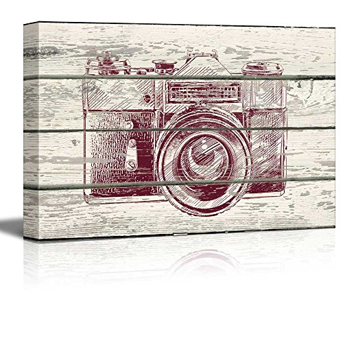 Point and Click Camera Print Artwork Rustic