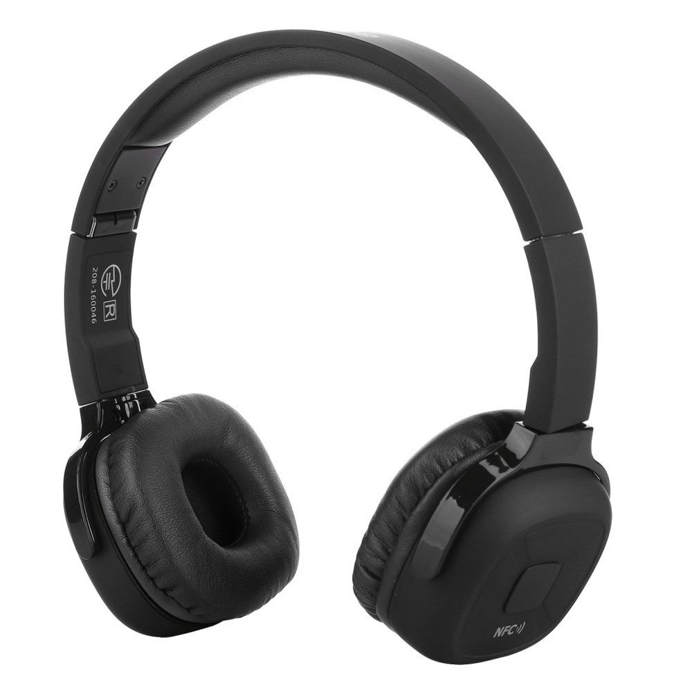 Aobiny Bluetooth Headset, Super Bass Wireless On Ear Bluetooth Headphones with Mic Audio and Wired Mode,Extra Comfortable and Lightweight (Black)