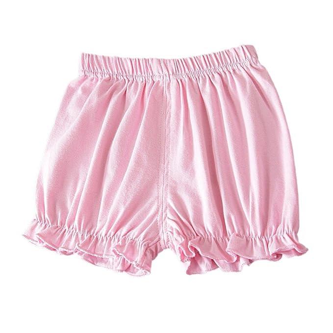 Brightup Bebé Niña Pantalones Cortos para Niños Pequeños Bloomers del Pañal Cubre la Ropa Interior Briefs