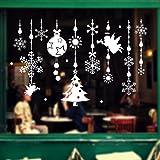 Noël Autocollants Fenetre Amovibles Décoration Stickers Muraux Pour Fenêtres Home Decor