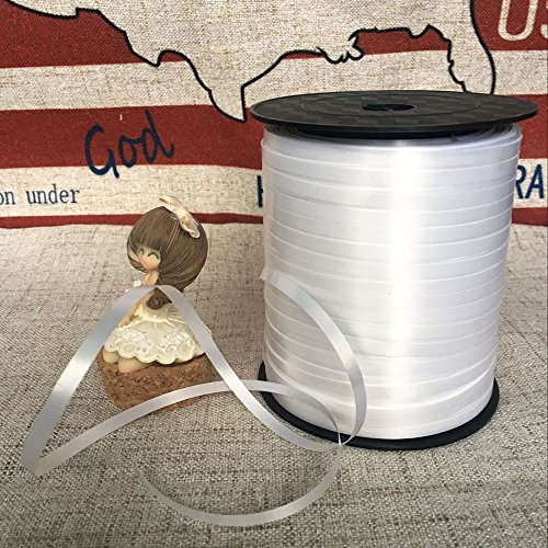 ZOOYOO 500 Yards Balloon String Party Decorative Supplies Balloon Curling Ribbons For Decoration Balloon Accessories,White