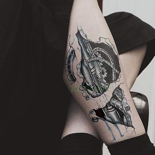 3 Piezas Etiqueta de Tatuaje a Prueba de Agua Reloj Pierna Trasera ...