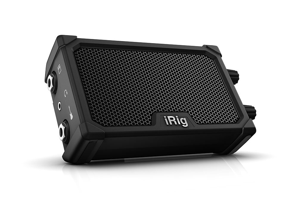 IK Multimedia iRig Nano Amp pocket guitar amplifier with integrated iRig circuit (black)