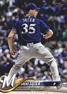 2018 Topps Update and Highlights Baseball Series #US291 Brent Suter Milwaukee Brewers Official MLB Trading Card