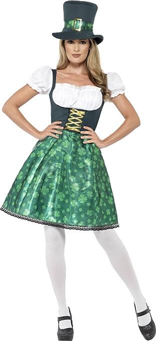 Ladies Fancy Irlanda Nacional día parte Outfit disfraz con diseño de ...
