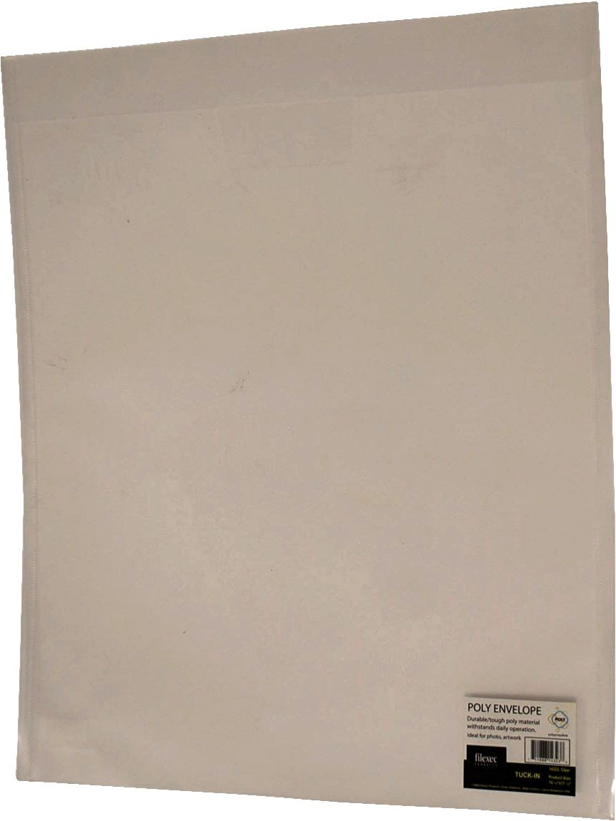 Tuck in Closure Filexec Poly Envelope Clear Pack of 6 50063-14323 Top Load