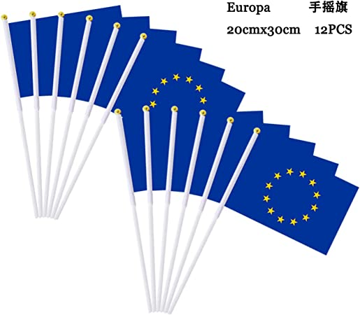 Durabol 12PCS Bandera de Mano de Europa Comunidades autónomas de España (20X30CM) (Europa): Amazon.es: Jardín