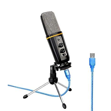 Lxxzz El Micrófono USB Viene con Tarjeta De Sonido Reverb ...