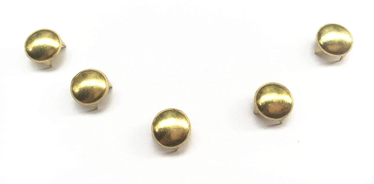 Bronze, 5 Mm 100 Pcs Round Dome Studs Metal Claw Beads Nailhead Punk Rivets with Spikes
