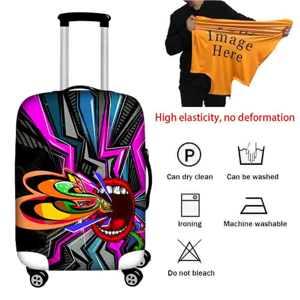 Suitcase Cover Elastic Breathable Waterproof Dust Cover Pull Bar Box Thick Wear-Resistant Water Wash Protective Cover